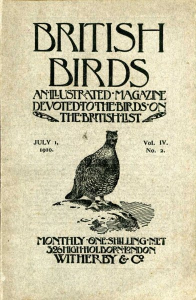Image for British Birds An Illustrated Magazine devoted chiefly to the birds on the British List, volume IV No 2, July 1 1910