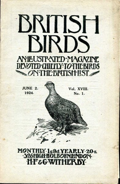 Image for British Birds An Illustrated Magazine devoted chiefly to the birds on the British List, volume XVIII , No 1, June 2, 1924
