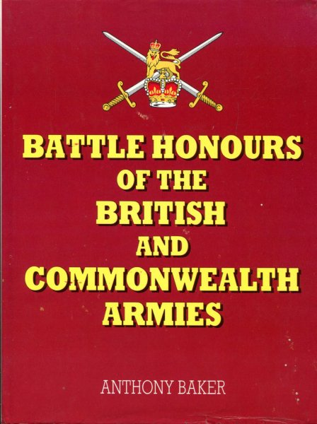 Image for Battle Honours of the British and Commonwealth Armies