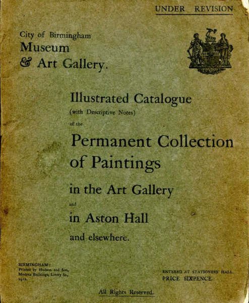 Image for Illustrated Catalogue (with descriptive Notes) of the Permanent Collection of Paintings in the Art Gallery and in Aston Hall and elsewhere