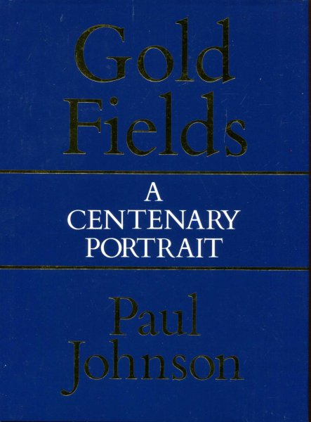 Image for Consolidated Gold Fields : A Centenary Portrait