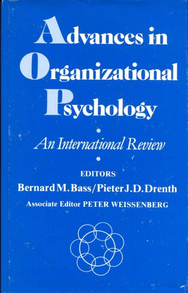 Image for Advances in Organizational Psychology : An International Review