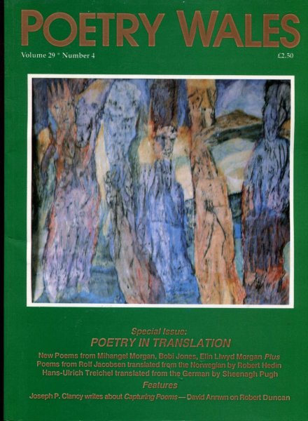 Image for Poetry Wales volume 29, Number 4, April 1994 : Poetry in Translation