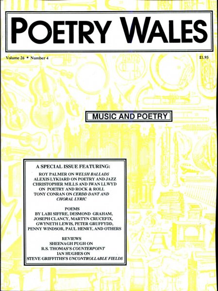 Image for Poetry Wales volume 26, Number 4, April 1991 : Music and Poetry