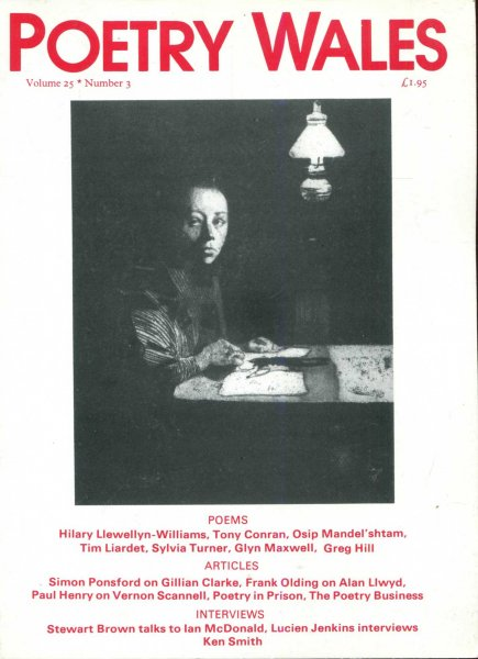 Image for Poetry Wales volume 25, Number 3, December 1989