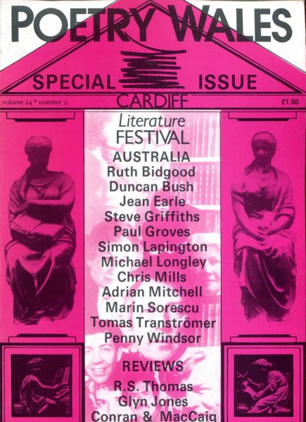 Image for Poetry Wales volume 24, Number 2 Cardiff Literature Festival : Special Issue