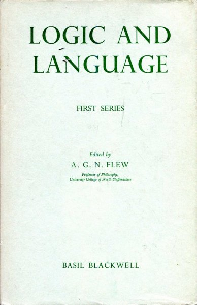 Image for Logic and Laanguage (First Series)