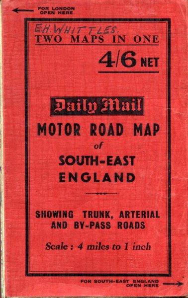 Image for Daily Mail Motor Road Map of South East England [and] Motor Road Map of London and ten miles round
