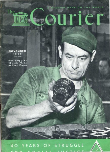Image for The Unesco Courier, November 1959 International Labour Organization