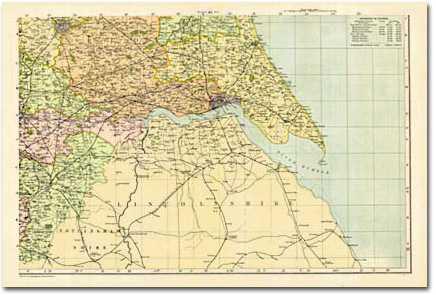 Image for Yorkshire - South East (1900): Cassini Historical Map, Rolled (BCO-YSE)