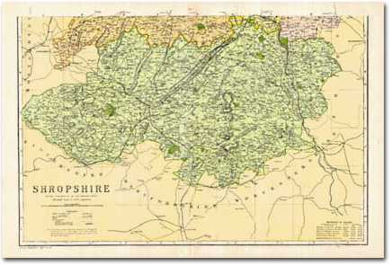 Image for Shropshire - South (1900): Cassini Historical Map, Rolled (BCO-SAS)