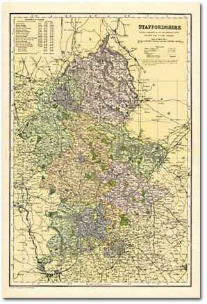 Image for Staffordshire (1900): Cassini Historical County Map, Rolled (BCO-STA)
