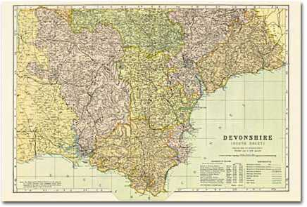Image for Devon - South (1900): Cassini Historical Map, Rolled (BCO-HTF)