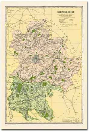 Image for Bedfordshire (1900): Cassini Historical Map, Rolled (BCO-BED)