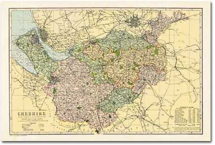 Image for Cheshire (1900): Cassini Historical Map (BCO-CHE) (Cassini Bacon Atlas)