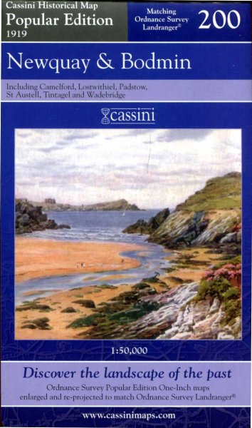 Image for Map of Newquay and Bodmin (Cassini Popular Edition Historical Map 200, 1919)