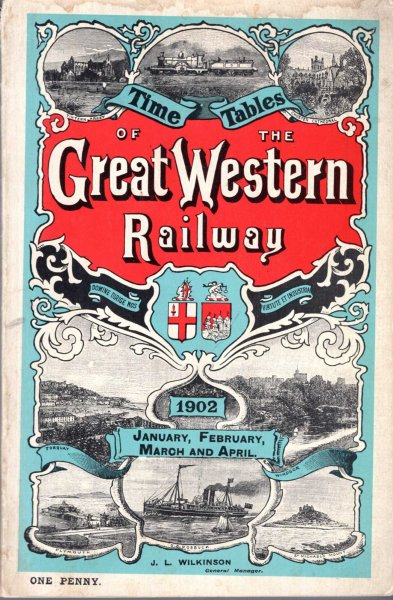 Image for Time Tables of the Great Western Railway 1902, January, February, March and April