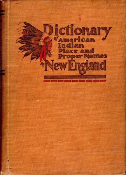 Image for Dictionary of American-Indian place and proper-names in New England