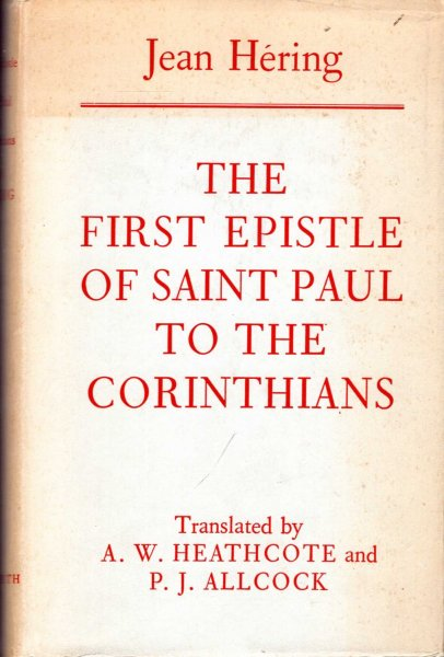 Image for The First Epistle of Saint Paul to the Corinthians