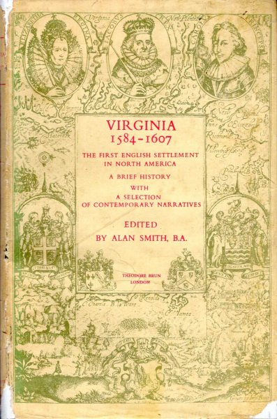 Image for Virginia 1584-1607 - the first English settlement in North America