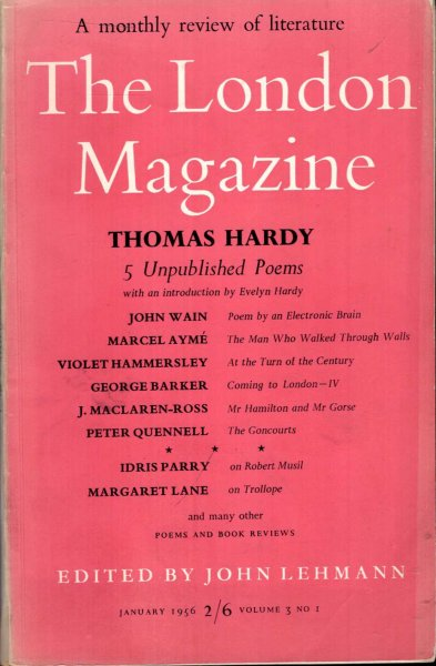 Image for The London Magazine January 1956, volume 3, No 1