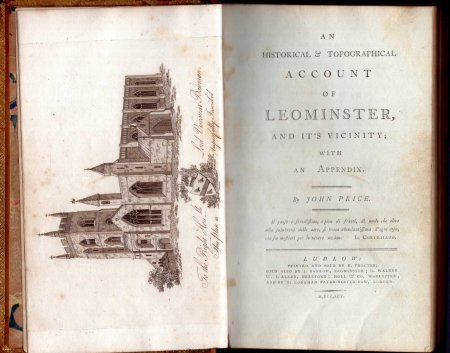 Image for An Historical & Topographical Account of Leominister, and it's vicinity ; with An Appendix