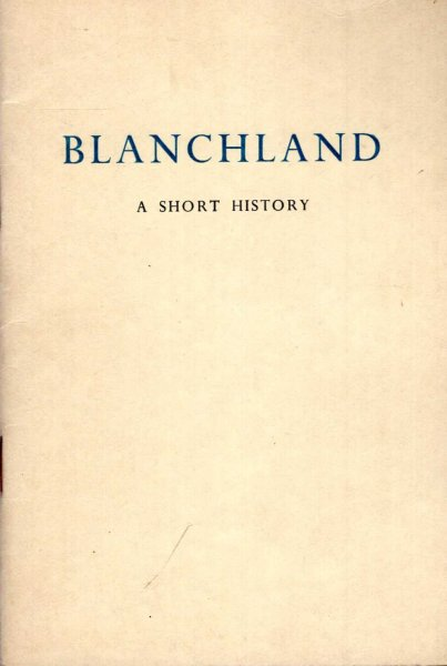 Image for Blanchland - a short history