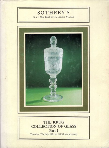 Image for The Krug Collection of Glass, Parts I, II, III & IV (four volumes complete)