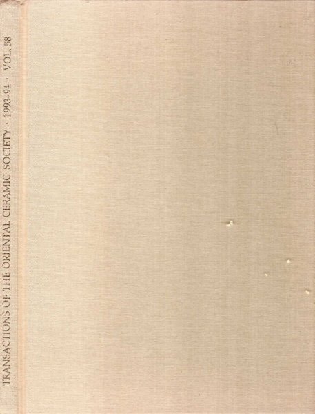 Image for Transactions of the Oriental Ceramic Society volume 58 : 1993-1994