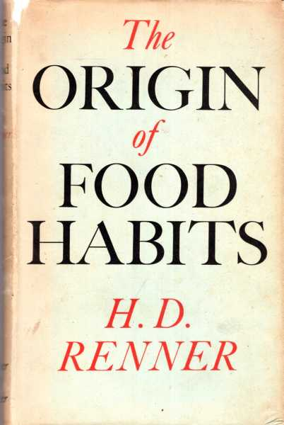 Image for The Origin of Food Habits