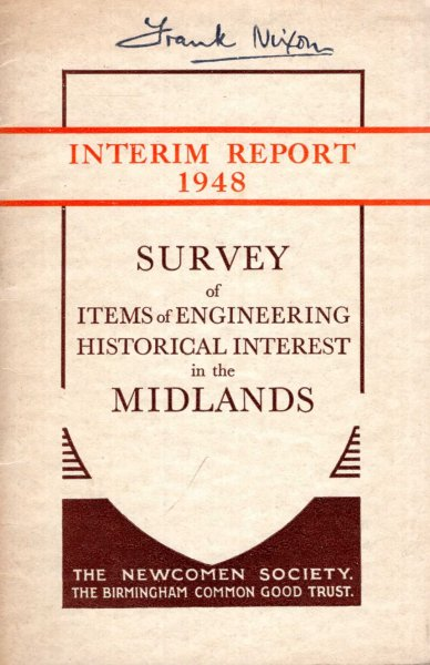 Image for Survey of Items of Engineering Historical Interest in the Midlands : Interim Report 1948