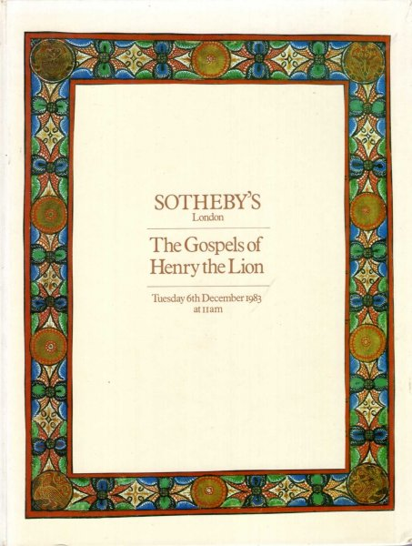 Image for The Gospels of Henry the Lion which will be sold by auction, 6th December, 1983