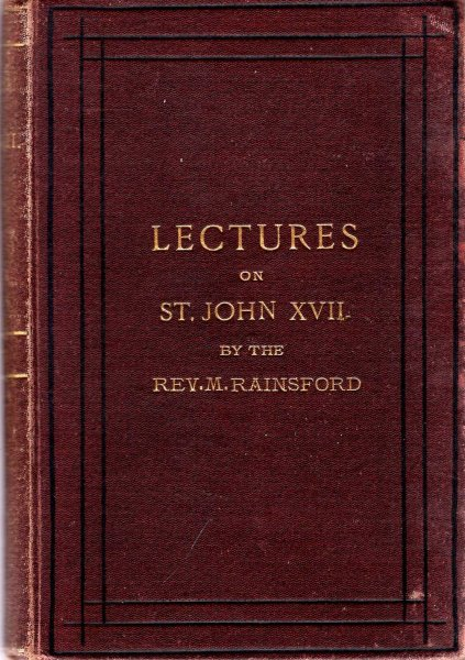 Image for Lectures on St John XVII