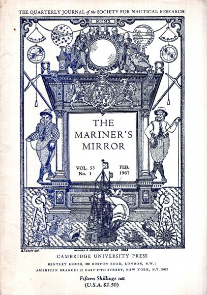 Image for The Mariner's Mirror. The Quarterly Journal of the Society for Nautical Research, volume 53, No 1, February 1967