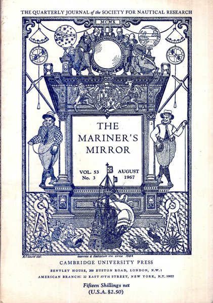 Image for The Mariner's Mirror. The Quarterly Journal of the Society for Nautical Research, volume 53, No 3, August 1967
