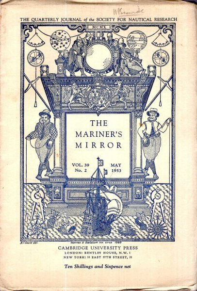 Image for The Mariner's Mirror. The Quarterly Journal of the Society for Nautical Research, volume 39, No 2 : May 1953