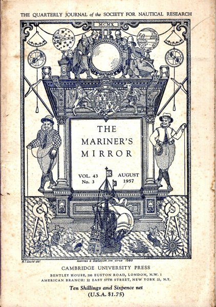 Image for The Mariner's Mirror. The Quarterly Journal of the Society for Nautical Research, volume 43, No 3 : August 1957