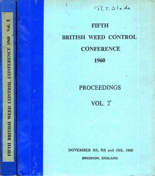 Image for Proceedings of the Fifth British Weed Control Conference 1960 (two volumes)