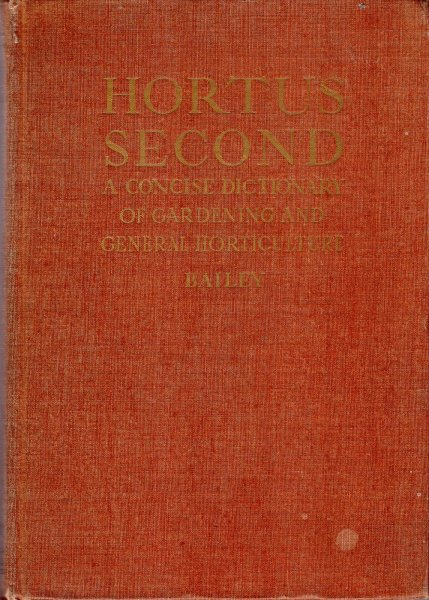 Image for Hortus Secon - a concise Dictionary of Gardening, General Horticulture and Cultivated Plants in North America