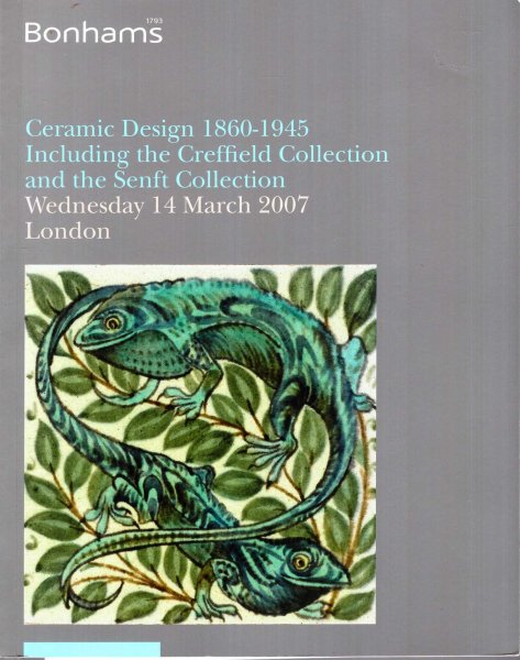 Image for Ceramic Design 1860-1945 including the Creffield Collection and the Senft Collection, 14th March 2007