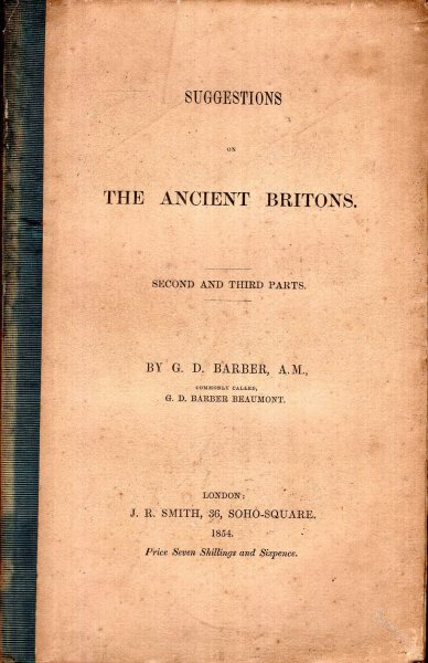 Image for Suggestions on Ancient Britons, second and third Parts