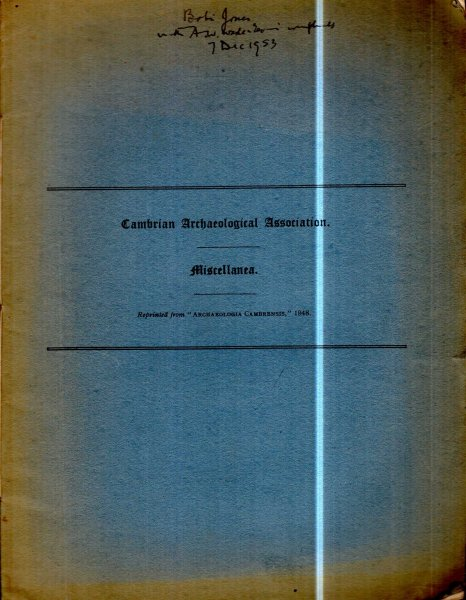 Image for Cambrian Archaeological Association : Miscellanea 1948