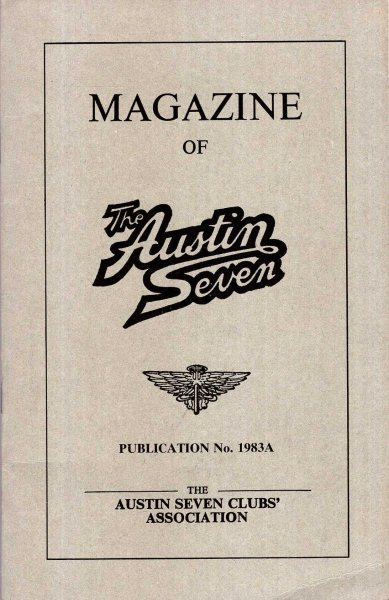 Image for Magazine of the Austin Seven : Publication 1983A