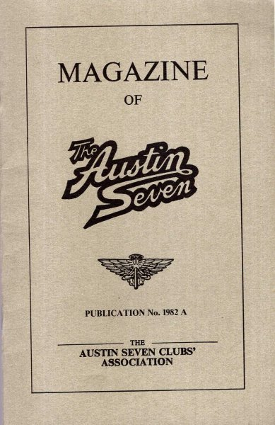 Image for Magazine of the Austin Seven : Publication 1982 A