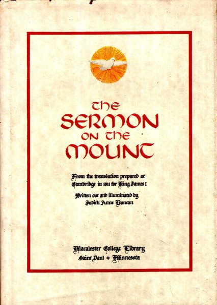 Image for The Sermon on the Mount, from the translation prepared at Cambridge in 1611 for King James I