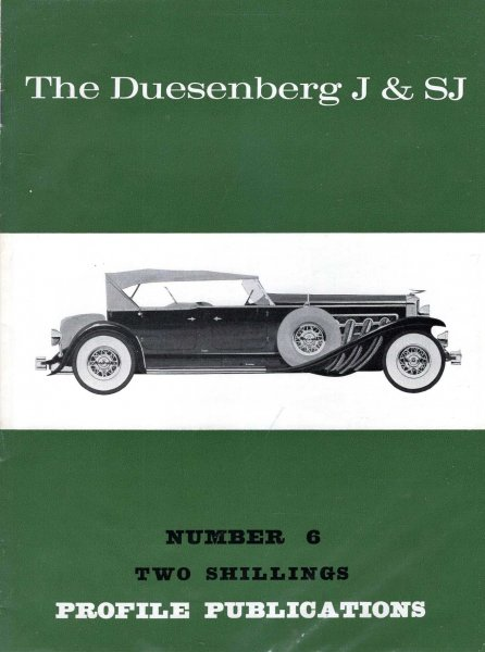 Image for Profile Publications Number 6 : The Duesenberg J & SJ