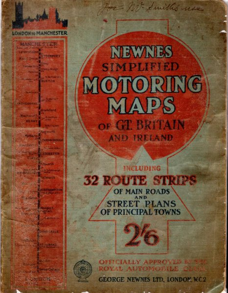 Image for Newnes Simplified Motoring Maps including 32 route strips