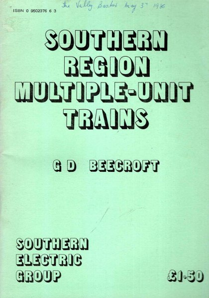 Image for Southern Region Multiple-Unit Trains