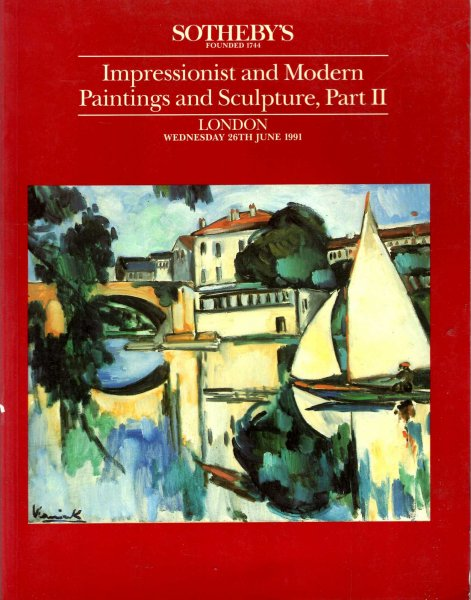 Image for Impressionist and Modern Paintings and Sculpture, Part II, 28th June 1991