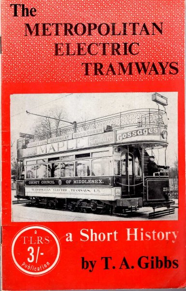 Image for The Metropolitan Electric Tramways - a short history